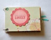 You are so Lovely chipboard album - Mini Album - Chipboard Album - Memory Book - Photo Album