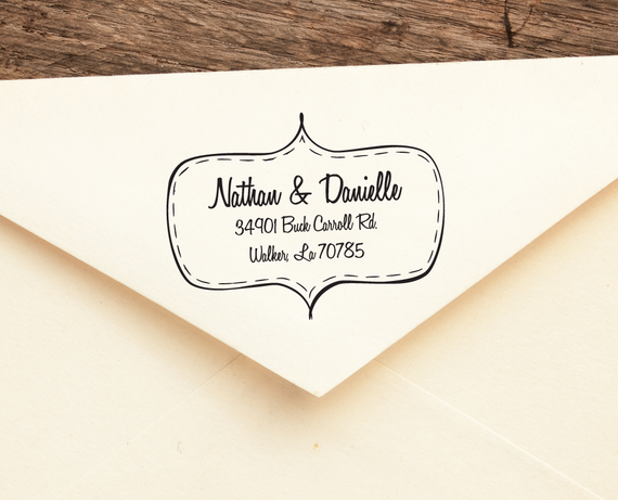 My Honey  - Personalized Address Stamp -  FREE SHIPPING