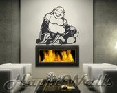 Wall Decal Removable Vinyl Home Decor Sticker - Happy Buddha HW054