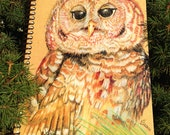 Spiral bound eco-friendly Owl journal