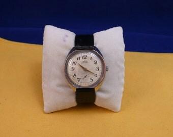 "USSR  ""ZIM"" wrist watch 1960-70 white metal unusual rare case  Rare good condition"