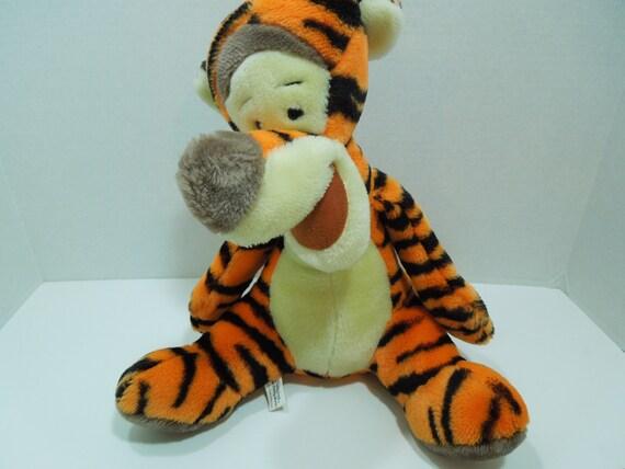 Vintage Tigger Stuffed Animal-FREE Shipping-Winnie the Pooh Character-Disneyana