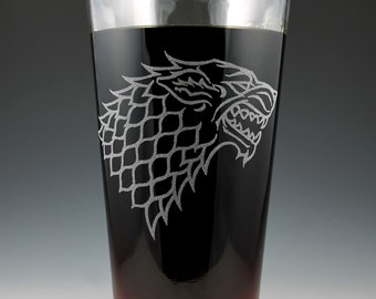 House Stark Game of Thrones Dual Sided Pint Glass