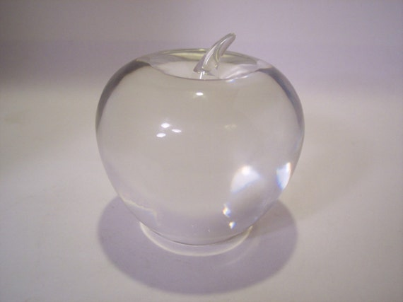 Signed Tiffany Amp Company Crystal Glass Apple By Indianqueen