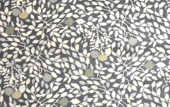 Liberty Fabric Isla Rose Large Fat Eighth Grey Tana Lawn Fabric