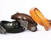100% Genuine Leather Cuff Bracelet Wrap Stacked Wide Bangle Bracelets with Charm (B006-PL)