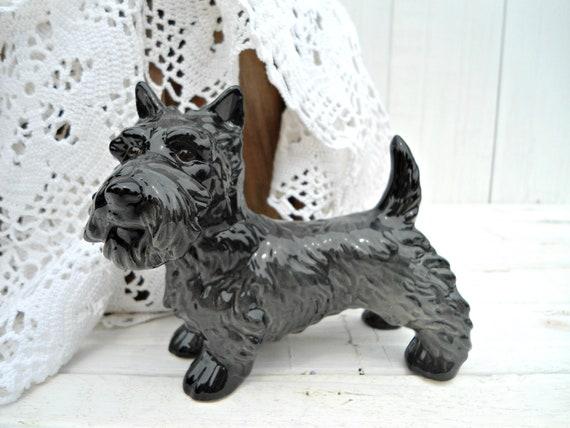 Vintage Goebel Scottish Terrier Figurine - black female dog figurine West Germany