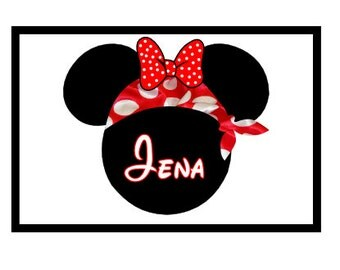 Personalized Minnie Pirate Disney Cruise Line Stateroom Door Magnet4x6 Custom Personalized