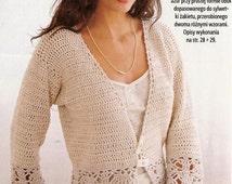 Spring / fall women crochet cardigan - MADE TO ORDER