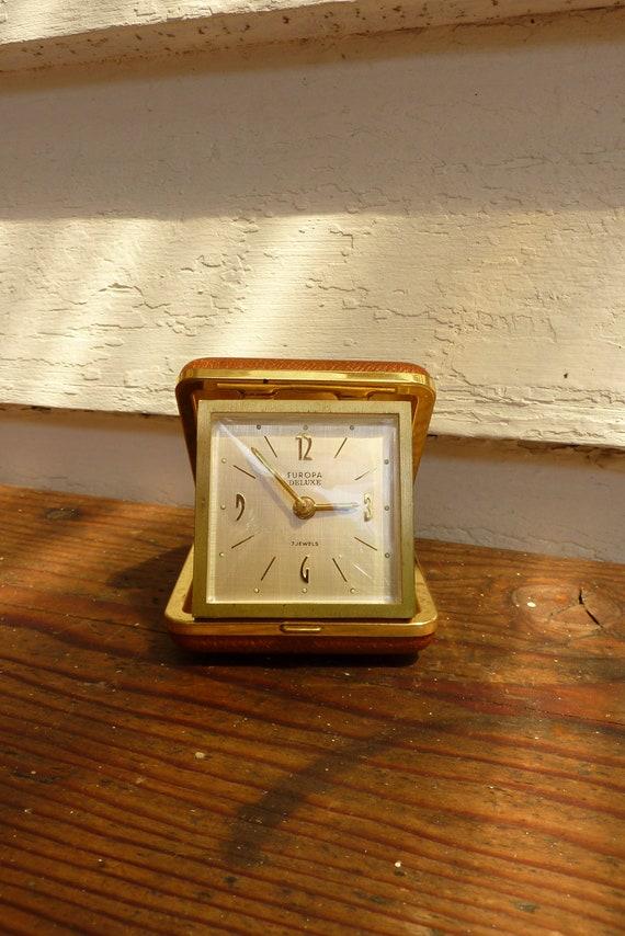 1960s German  Travel  Alarm Clock - Vintage Alarm Clock - 1960s Home Decor