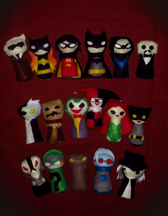 Batman Keyhole Plushies: Complete set