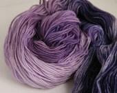 "Handpainted 100% Superwash Merino Sock Yarn ""Alicia"" -- Moonstone Sock"