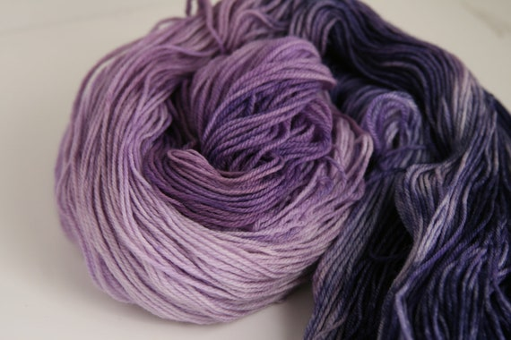 "Handpainted 100% Superwash Merino Sock Yarn ""Alicia"" -- Moonstone Sock"
