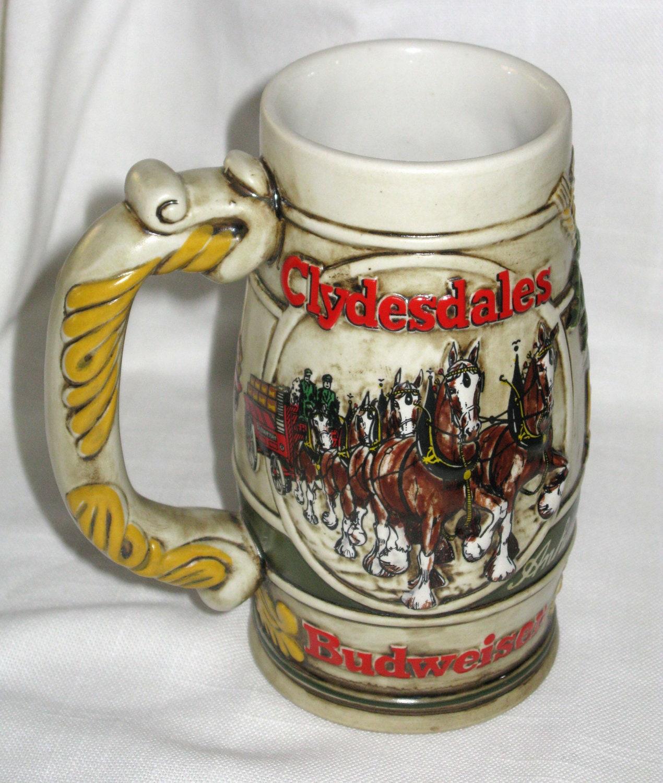 1983 Budweiser Holiday Stein Cameo Wheatland