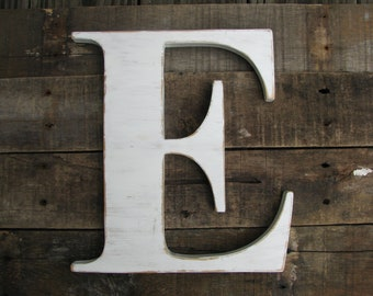 "12"" Wood letter, wedding decor, vintage chic, home decor"