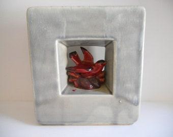 McCoy Square Art Deco Bird Vase
