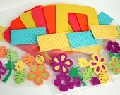Tropical Craft Kit for Kids /6 Magnetic Picture Frames / Party Craft / Favors / Play Date Activity