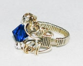 Royal Mistic Filigree Wire Wrapped Ring.   FREE SHIPPING