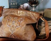Hand Painted Vintage Leather Bag