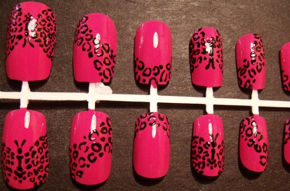 Butterfly Leopard Print False Nail Set