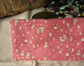 1930s Reproduction Cotton Fabric Fat Quarter Aunt Grace Scrap Bag 2004 Pink with Bears
