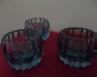 Set of Three Votive Holders
