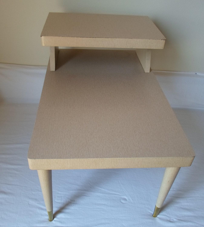 Vintage Mid Century Modern End Table Side Table Laminent