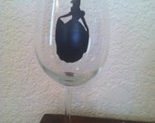 Cinderella Sihouette Wine Glass - Custom Listing for Paige D.