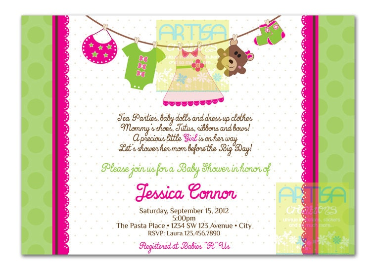 girl baby shower invitation baby girl shower invitation