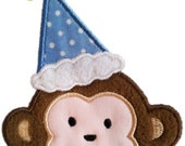 Birthday Monkey Boy And monkey Girl Applique Machine Embroidery Design NO:1185