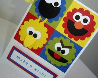 Sesame Street Birthday Card