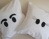 CUSTOM ORDER - AANDY - Wedding Cushions - Mr & Mrs Eyes