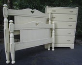 Twin Bed Frame and Matching Dresser