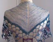 Crocheted Silk Star Motif Triangular Scarf
