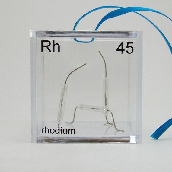 Rhodium Periodic Table of Elements Cube Ornament Rhodium Element Project