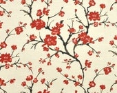 6.5 yards fabric, braemore flowering branches, custom order for Mary P