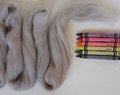 MERINO WOOL TOP - Hippo Gray (approximately 1 oz) - From Purple Moose Felting
