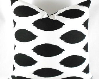 Pillow Covers ANY SIZE Decorative Pillow Cover Pillows Home Decor Premier Prints Chipper Black White