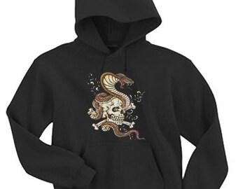 Adult Hoodie / Skull & Snake Tattoo