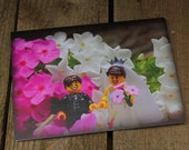Blank photo card featuring our Brick photos...The flower wedding