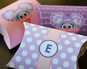 3 Abby Cadabby Favor Box Printables, Abby Favor Boxes, Abby Favor Bags, Abby Cadabby Party Gifts, Sesame Street Abby Birthday Decor