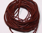 Chocolate Genuine Leather 1.5 mm round cord in 5 meter bundles