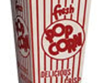 25% OFF - 48 Retro Popcorn Boxes - Movie Theater style
