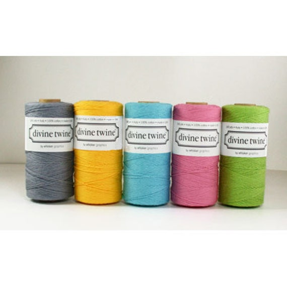 NEW- 5 Pack of SOLID Divine Twine