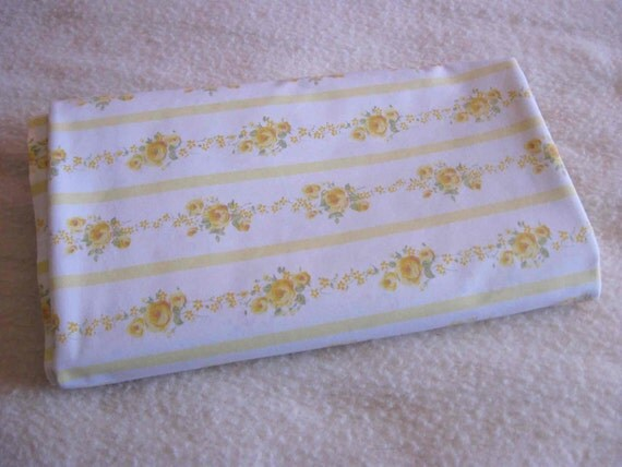 Yellow Rose Stripe twin flat sheet