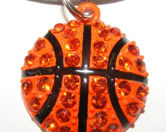 Basketball Necklace Pave Style