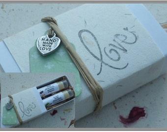 Sugared Lip Balm Scrub Gift Boxed Set for Healthy Lips, Organic Sugar Scrubs Away Dead Skin