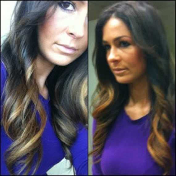 "20"" Custom Made OMBRE Clip-In Hair Extensions"