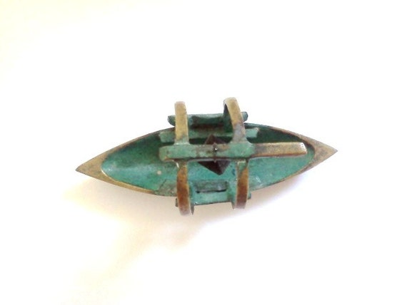 Vintage Boat Brass with Wood Lamp