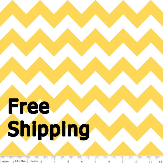 Chevron Fabric Riley Blake Yellow 1 yard FREE SHIPPING